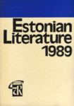 Estonian literature 1989